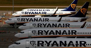 Knock Airport faces the suspension of Ryanair flights from this weekend until December 13th. Photograph:  Adrian Dennis/AFP via Getty Images