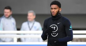 Liverpool defender Joe Gomez suffered a knee injury during England training on Wednesday. Is this fixture calendar fair on player welfare? File photograph: Getty Images