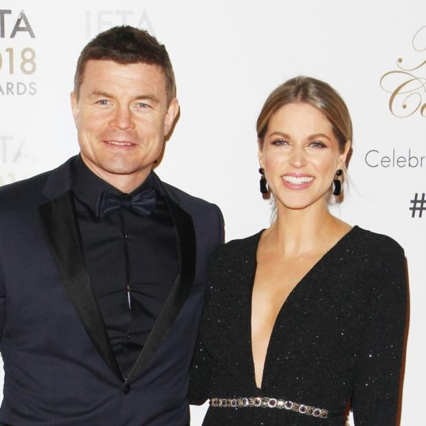 Amy Huberman and her husband, Brian O'Driscoll. Photograph: Phillip Massey/Getty