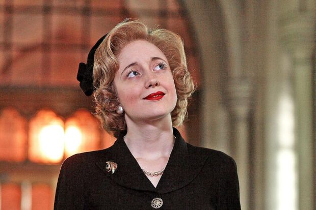Andrea Riseborough as Thatcher in The Long Walk to Finchley