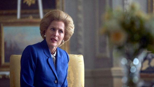 Gillian Anderson as Thatcher in The Crown