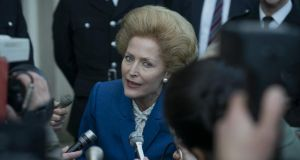 Gillian Anderson as former British prime minister Margaret Thatcher