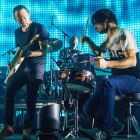 "Thom Yorke, Phil Selway and Jonny Greenwood of Radiohead: Steven Hyden  pitches Kid A as ""an overture for the chaos and confusion of the 21st century"". Photograph: Samir Hussein/Referns"
