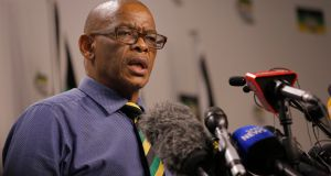 ANC secretary general Ace Magashule is due in court on Friday. Photograph: Kim Ludbrook/EPA