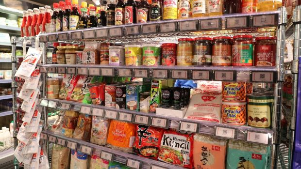 A display of Asian foods at Lotts & Co in Clontarf. Photograph: Nick Bradshaw