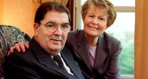 John Hume and his wife, Pat, at home in 1999. Photograph: Bryan O'Brien