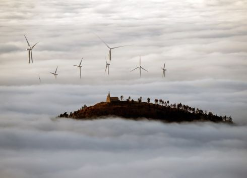 WIND: Fog covers a windmill field close to Pamplona, Navarra, northern Spain on Thursday. Photograph: Jesus Diges/EPA