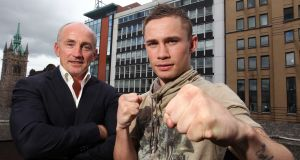 Barry McGuigan and Carl Frampton in 2011. Photograph: Jonathan Porter/Presseye/Inpho