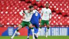 Republic of Ireland's Alan Browne played the full 90 minutes against England on Thursday night. Photograph: Inpho