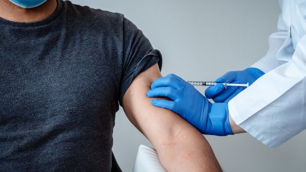 Vaccinating against Covid-19. Photograph: BioNTech/EPA