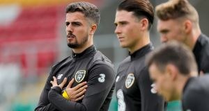 "Zack Elbouzedi: ""There are not a lot of times in a football career when you get the chance to make history so that's a huge driving factor for us. To be the first Irish team to qualify would be massive.""  Photograph: Oisin Keniry/Inpho"