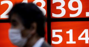 Japan's Nikkei rose 2 per cent to a 29-year high on Monday. Photograph: Behrouz MEHRI / AFP via Getty Images