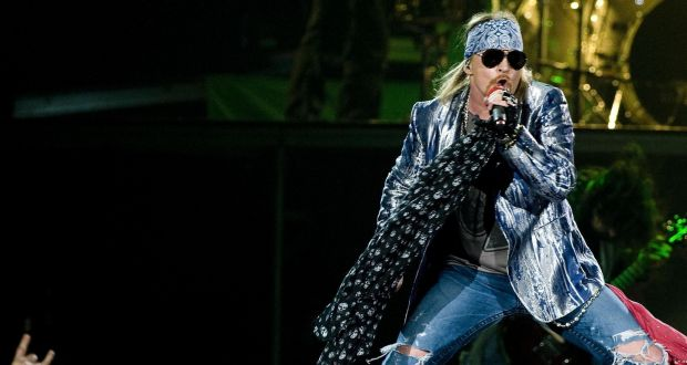Axl Rose of Guns N' Roses  at London's O2 arena in October 2010. Photograph: Ian West/PA Wire