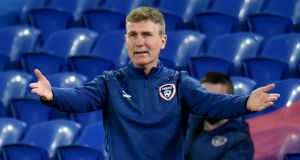 Republic of Ireland manager Stephen Kenny:  preparing for his eighth game in charge, still looking for a first win and second goal since he took over in the summer. Photograph: Peter Powell/EPA