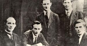 The Squad included Vinny Byrne (standing, left), a group of assassins assembled by Michael Collins