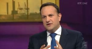 Tánaiste Leo Varadkar was critical of chief medical officer Tony Holohan and the National Public Health Emergency Team's call for Level 5 restrictions at the start of October. Image: Screenshot from RTÉ
