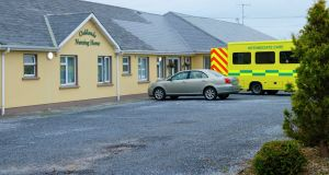 Ambulance outside Oaklands Nursing Home in Listowel, Co Kerry,  on  November 4th. Photograph courtesy of  Kerry's Eye