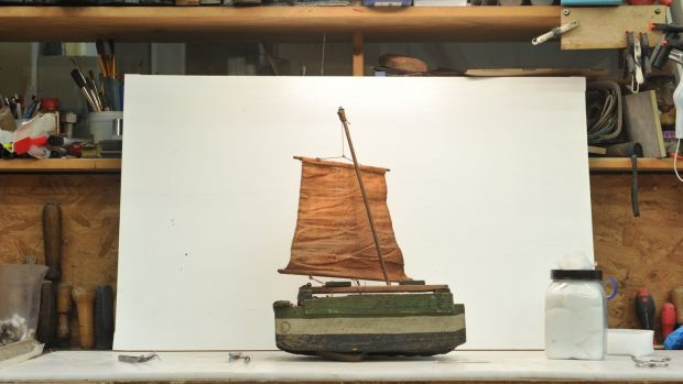 Model boats made by Jack B Yeats donated to the Model Arts Centre in Sligo. Photograph: Heike Thiele