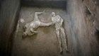 Well preserved remains of two men found in ruins of Pompeii