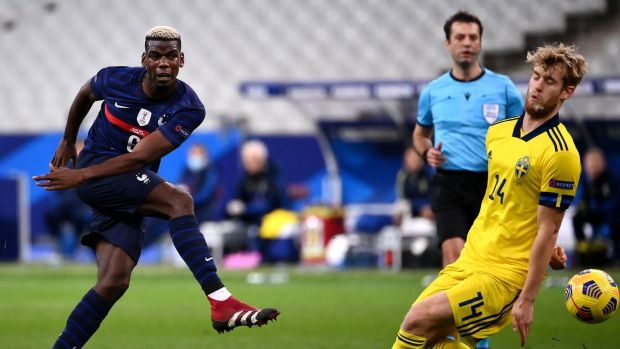 Paul Pogba on international duty with France. Photograph: Franck Fife/Getty/AF