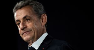 Nicolas Sarkozy goes on trial on Monday on charges of trying to bribe a judge. Just weeks after his presidential immunity ended in 2012, police raided Mr Sarkozy's private  home and Paris office. Photograph: Thomas Samson/AFP via Getty Images