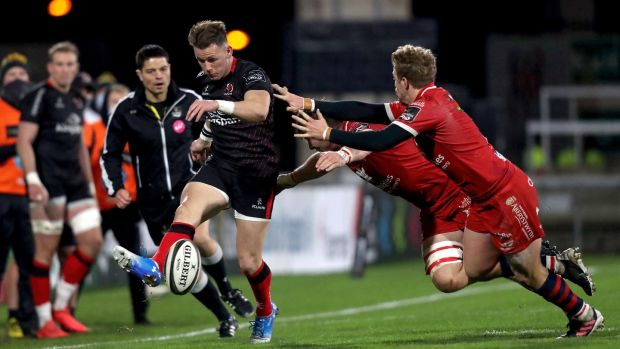 Ulster's Craig Gilroy in action during his team's home win against the Scarlets. Photograph: Inpho
