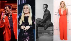 Luther Vandross, Kelly Clarkson, Leroy Clare and Britney Spears. Photographs: Getty Images