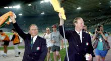 Ireland assistant manager Maurice Setters and manager Jack Charlton after the 1990 World Cup quarter-final. Photograph: Inpho