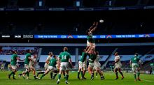 A lineout at Twickenham on  Saturday. One of the legacies from the Joe Schmidt era is to kick penalties to the corner, but it may be time for some revision. Photograph:  Adrian Dennis/AFP/Getty Images