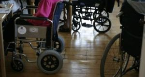 Restrictions on nursing homes are expected to be eased to allow residents have one scheduled visit a week in the run-up to Christmas, under new guidelines due to be published in the coming days. File image: Dara Mac Dónaill/The Irish Times.