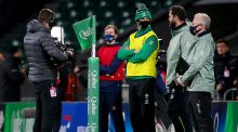 Johnny Sexton was waterboy for Ireland against England. Photograph: Craig Mercer/Inpho