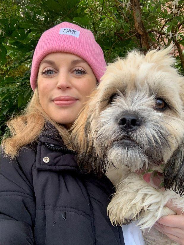 Amy Huberman and her dog Phoebe
