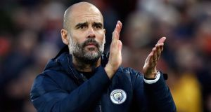 Manchester City manager Pep Guardiola: 'We know we are a team who last season scored a lot but now we are struggling. We have to find solutions.' Photograph:  Martin Rickett/PA Wire