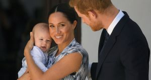 Miscarriage: the duke and duchess of Sussex with their son Archie. Photograph: Toby Melville/PA Wire