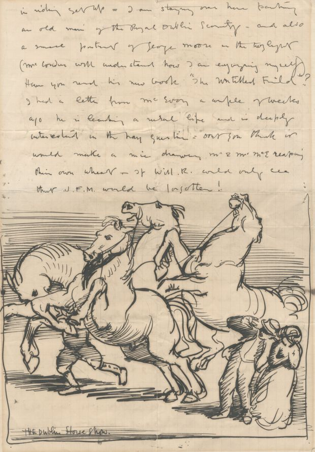 Illustrated letter from William Orpen describing Dublin (£800-£1,200), Bonhams