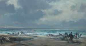 Frank McKelvey, Fishing Boats on Donegal Coast (€4,500-€5,500), Adam's Blackrock