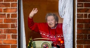 RADIO WAVE: Rosaleen Sheehan is pictured celebrating the return this weekend of Christmas FM. Photograph: Breda Brown