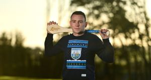 Waterford hurler Stephen Bennett at Ballysaggart GAA Club on Wednesday to launch the Bord Gáis Energy Christmas Jumper campaign, with all proceeds going to Focus Ireland  to help fight homelessness in the run-up to Christmas. Photograph: Eóin Noonan/Sportsfile