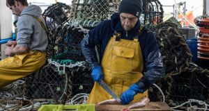 French fishermen from Granville fishing in UK waters.  Photograph: Siegfried Modola/Getty Images