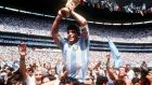 Diego Maradona has died ahed 60. Photograph: Billy Stickland/Inpho