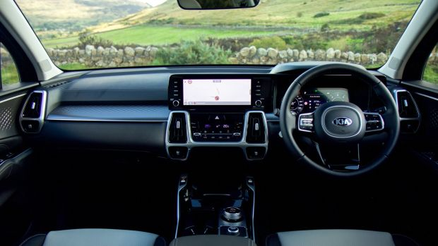 The Kia Sorento is awash with gadgets, mostly controlled from a logical touchscreen in the centre of the dash.