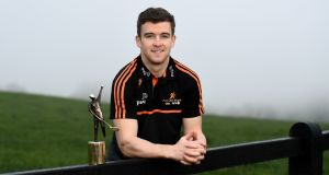 Tony Kelly with his player of the month award for November. Photograph: Harry Murphy/Sportsfile