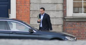Leo Varadkar: decision on inter-county travel – including to Northern Ireland – will not be made until closer to Christmas. File photograph: Gareth Chaney/Collins