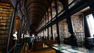 The Long Room at  Trinity College Dublin. Photograph: Bryan O'Brien / THE IRISH TIMES