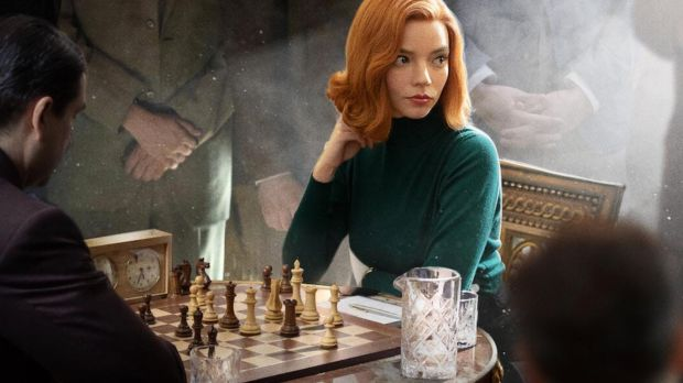 Anya Taylor-Joy as Beth Harmon in The Queen's Gambit, Netflix's most successful scripted limited series. Photograph: