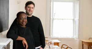Jumoke Akintola and Peter Hogan in their restaurant, Beach House, in Tramore, Co Waterford (photographed in February, before the imposition of Covid-19 restrictions), where they will run a Christmas market. Photograph: Patrick Browne