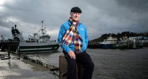 Fisherman Michael Cavanagh at Greencastle Port in Co Donegal: the small fishing harbour faces a unique Brexit problem. Photograph: Joe Dunne
