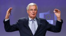 "Michel Barnier: ""significant divergences persist"" between Brussels and London. Photograph: Francois Lenoir/AFP"