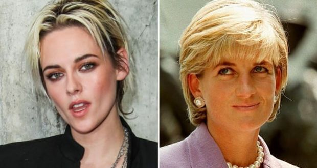 Kristen Stewart and Diana. The US actor is set to play the princess in the new film. Photograph: AP; AFP/Getty Images