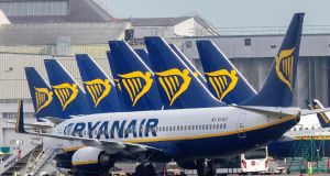 Ryanair is issuing cheques to Irish customers who booked now-cancelled flights through a travel agent. Photograph:  Paul Faith/AFP
